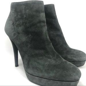 Stuart Weizman suede platform ankle boots - 8